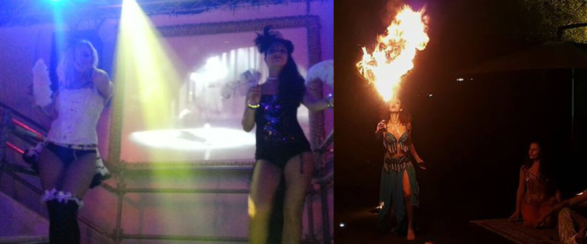 Burlesque firebreathers
